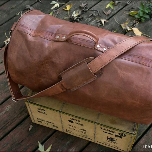 4925b1abf4af Leather Duffel Bag